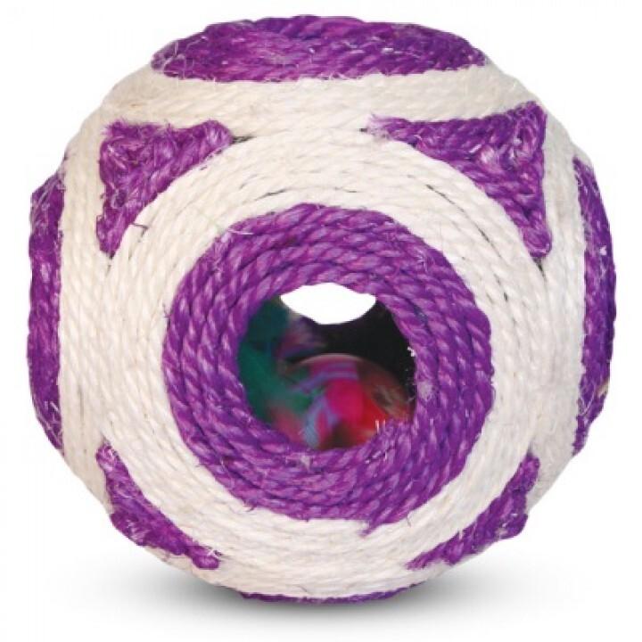 309NT Когтеточка Мяч-погремушка15см