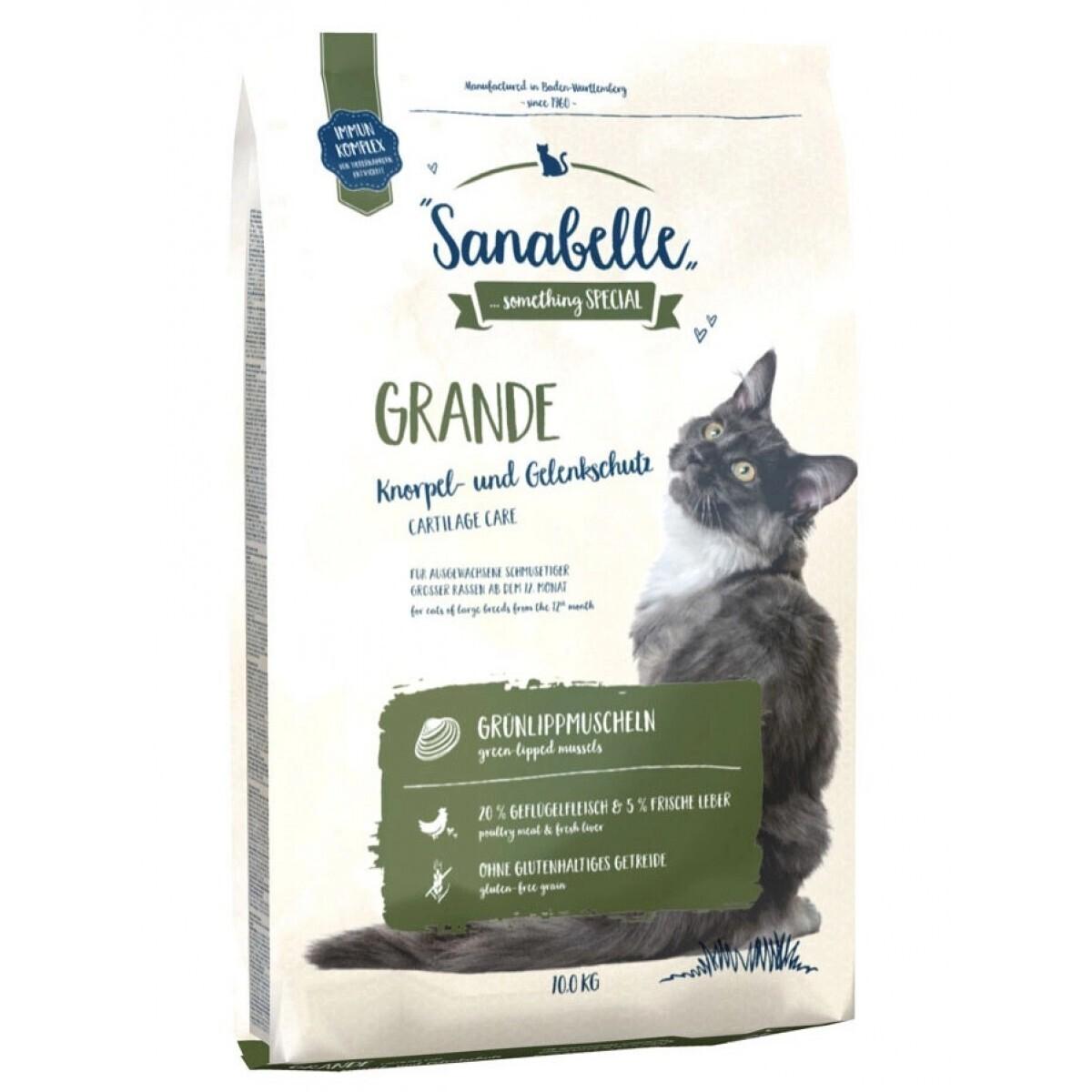 Sanabelle Grande корм для кошек крупных пород с птицей 10 кг