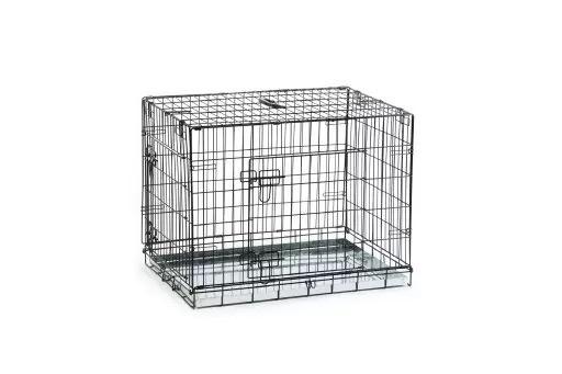 Beeztees 715804 Клетка для собак оцинкованная с 2-мя дверцами черная 109*69*75см
