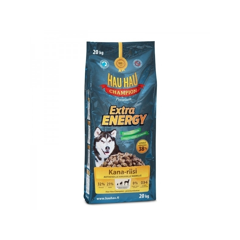 Hau-Hau Champion Extra Energy 20кг корм для активных собак всех пород 118