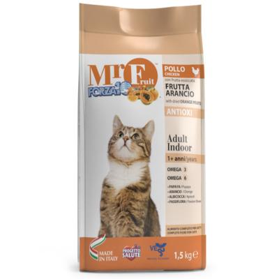 Forza 10 корм для домашних взрослых кошек всех пород, с экстрактами оранжевых фруктов, курица 1,5 кг