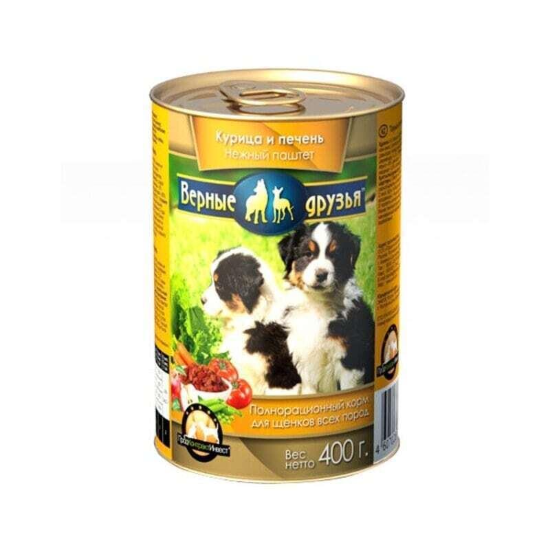 Верные друзья консерв. длЯ собак 415г говядина кусочки (120)*