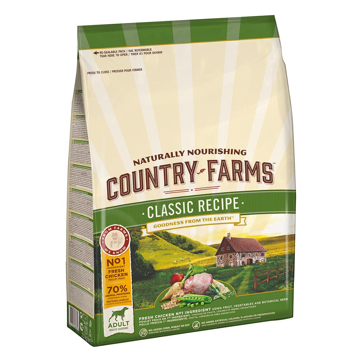 Country Farms корм для взрослых собак всех пород, классический, лосось 2,5 кг
