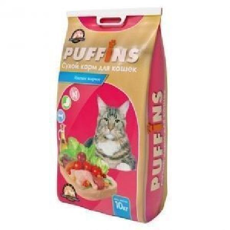 Puffins корм для кошек, Мясное жаркое 10 кг