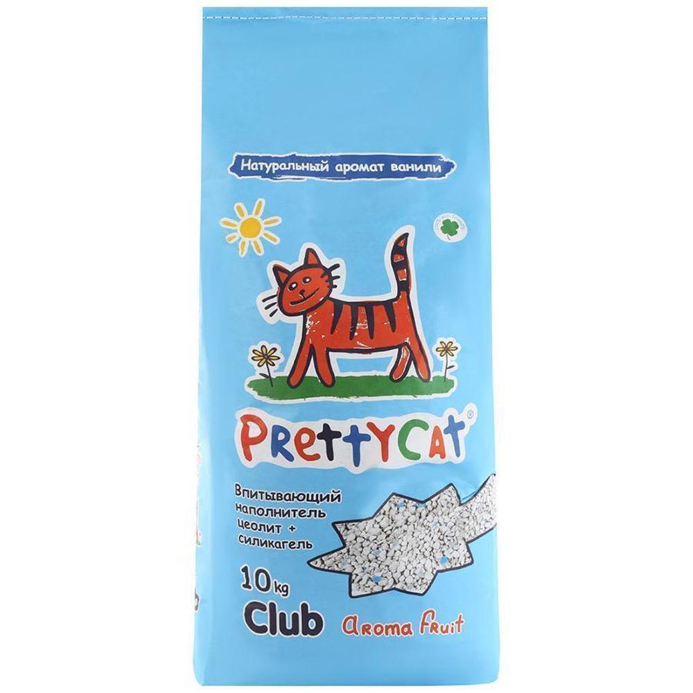 PrettyCat Aroma Fruit силикагелевый впитывающий наполнитель, цеолит + силикагель 10 кг