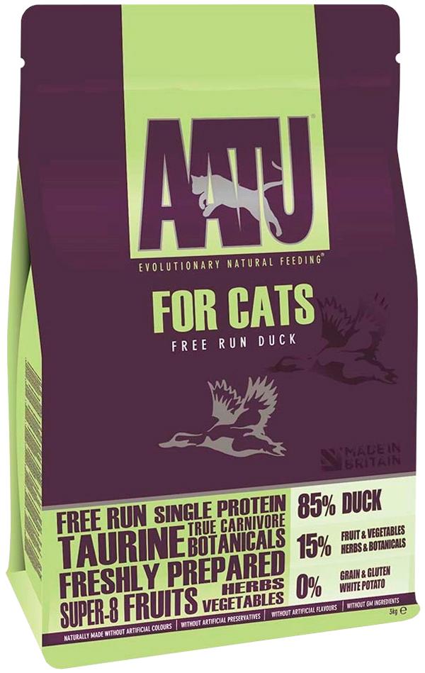 AATU корм для кошек беззерновой, с уткой 3 кг