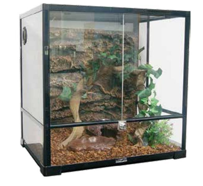 0107 RK Террариум REPTIZOO 60х45х45см сборный стеклянный с распашными дверцами