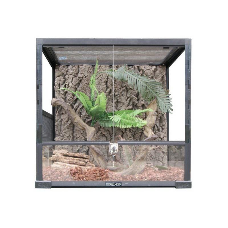 0110 RK Террариум REPTIZOO 45х45х60см сборный стеклянный с распашными дверцами