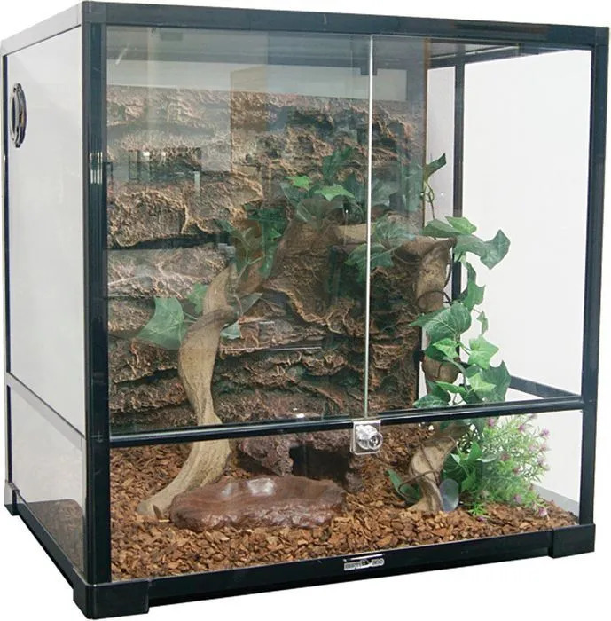0111 RK Террариум REPTIZOO 60х45х60см сборный стеклянный с распашными дверцами
