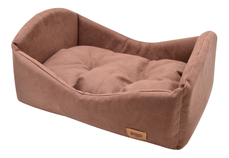 75681 лежанка-кроватка Classic иск.замша №1 50*35*23 см коричневая