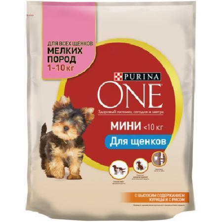 Purina One Mini корм для щенков всех пород, курица 600 гр