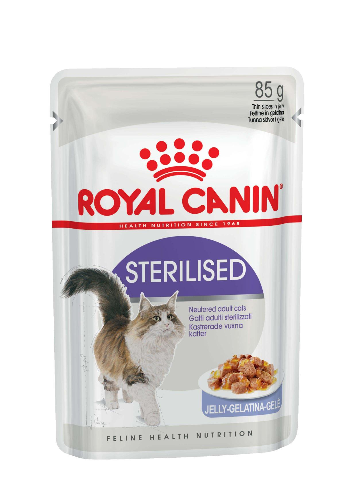 Royal Canin паучи ВИА см арт 41714 RC Кусочки в желе для кастрированных кошек 1-7лет (Sterilized) 787001, 0,085 кг, 24172