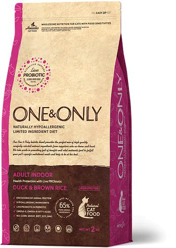 One & Only корм для кошек всех пород, живущих в помещении, утка с рисом 400 гр