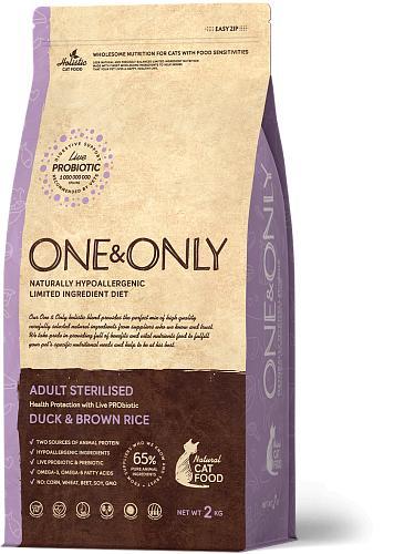 One & Only корм для стерилизованных кошек всех пород, утка с рисом 400 гр