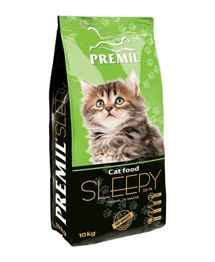 Premil Корм для кошек СУПЕРПРЕМИУМ SLEEPY (СЛИПИ) 33/16 10 кг, 8600103397223