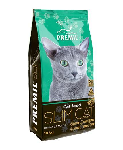 Premil Корм для кошек СУПЕРПРЕМИУМ SLIM CAT (СЛИМ КЭТ) 33/10 0,4кг, 8600103397353