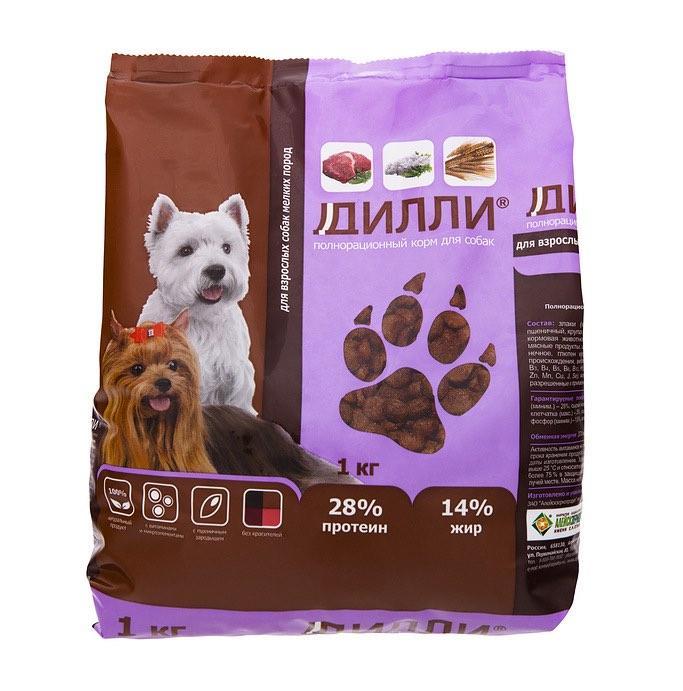Корм для собак Дилли для собак мелких пород 16 кг