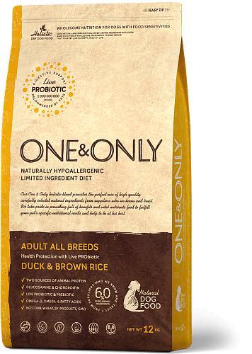 One & Only корм для взрослых собак всех пород, утка с рисом 12 кг