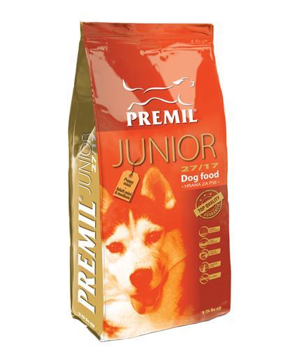 Premil Корм для собак СУПЕРПРЕМИУМ JUNIOR (ЮНИОР) 27/17 15 кг, 8600103397629