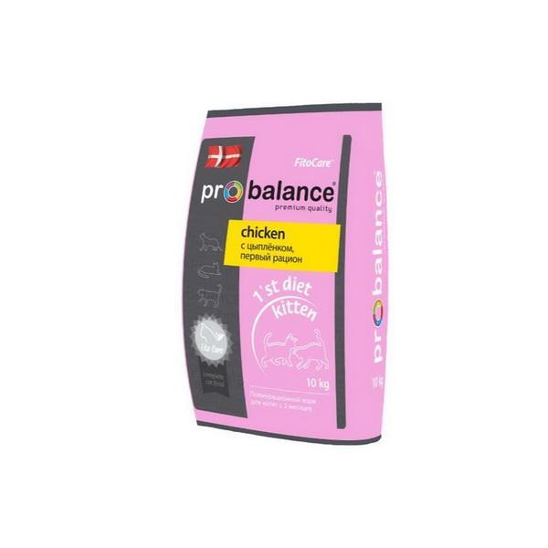ProBalance корм для котят всех пород, диетический, цыпленок 10 кг