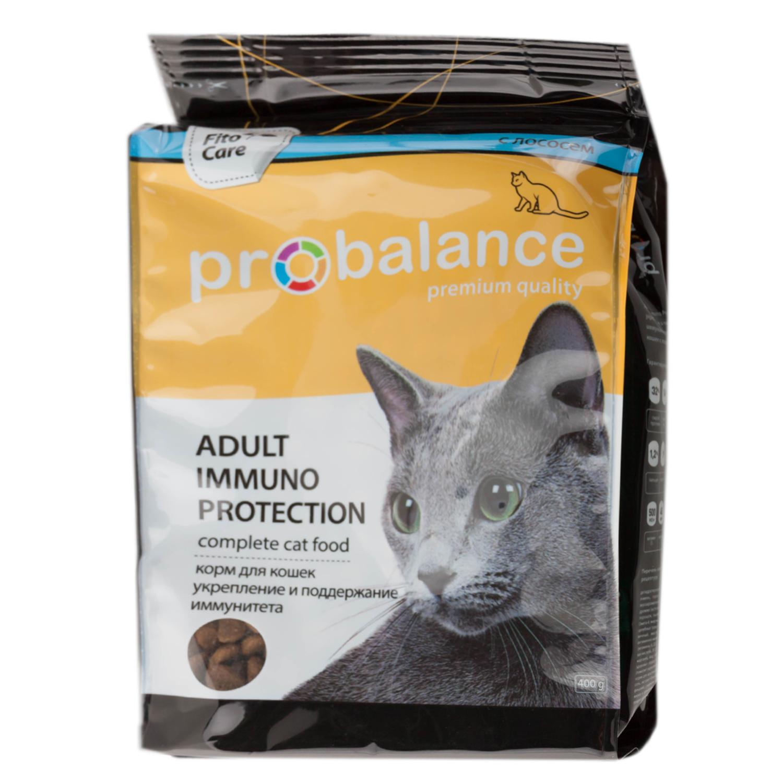 ProBalance корм для взрослых кошек всех пород, поддержка иммунитета, лосось 10 кг