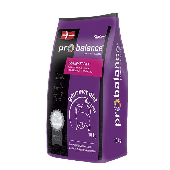 ProBalance корм для привередливых взрослых кошек всех пород, говядина и ягнёнок 10 кг