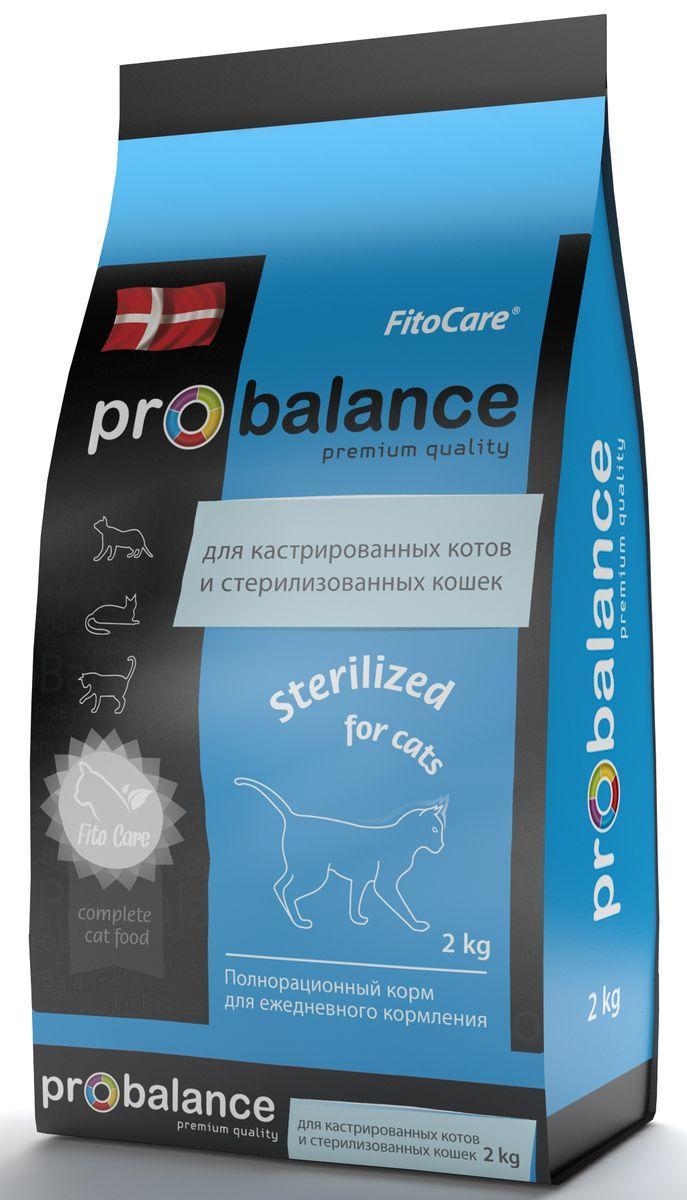 Probalance Сухой корм для кастрированных котов и стерилизованных кошек, с курицей 38 PB 195, 1,800 кг, 54847
