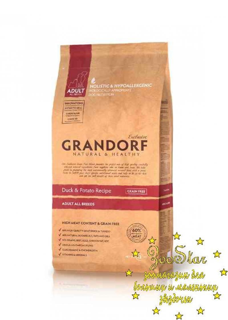 Grandorf корм для взрослых собак всех пород, утка и батат 1 кг