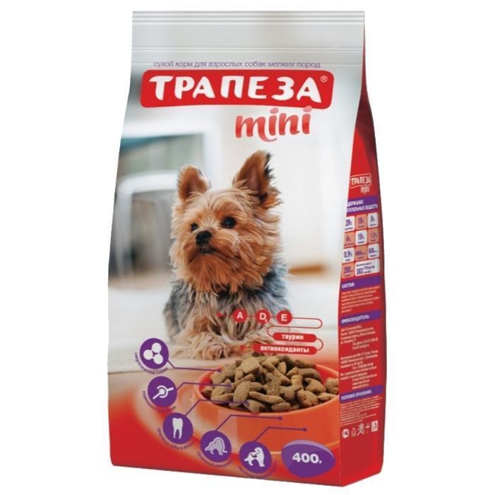 [111.030]  Трапеза Мини сухой  0,4 кг для собак мелких пород ( уп 10 шт), 111.030