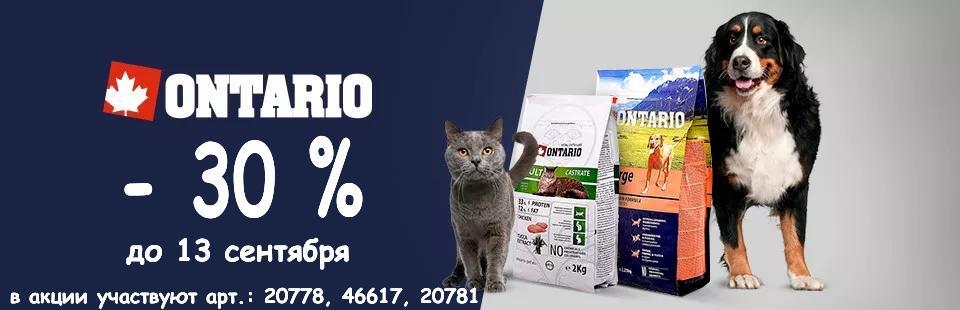Скидка на продукцию Ontario 30% до 13.09!